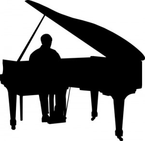 Musicians Playing The Baby Grand Piano
